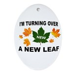 NEW LEAF Oval Ornament