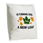 NEW LEAF Burlap Throw Pillow