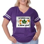 NEW LEAF Women's Plus Size Football T-Shirt