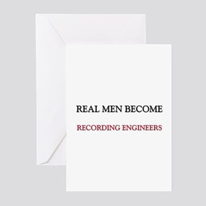 Real Men Become Recording Engineers Greeting Cards
