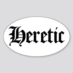 Heretic Oval Sticker