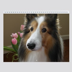 Easter Sheltie Wall Calendar