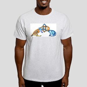 Celtic Bird & Rabbit Light T-Shirt