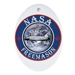NASA Free Masons Oval Ornament