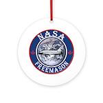 NASA Free Masons Ornament (Round)