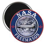NASA Free Masons Magnet