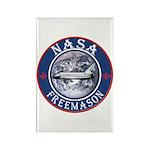 NASA Free Masons Rectangle Magnet