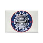 NASA Free Masons Rectangle Magnet (10 pack)
