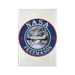 NASA Free Masons Rectangle Magnet (100 pack)