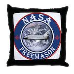NASA Free Masons Throw Pillow
