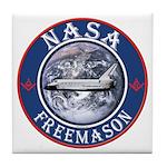 NASA Free Masons Tile Coaster