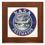 NASA Free Masons Framed Tile