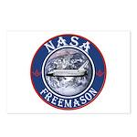NASA Free Masons Postcards (Package of 8)