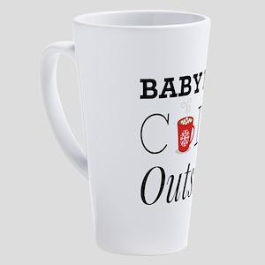 Cold Outside 17 oz Latte Mug