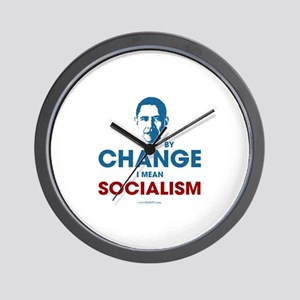 By Change I Mean Socialism Wall Clock