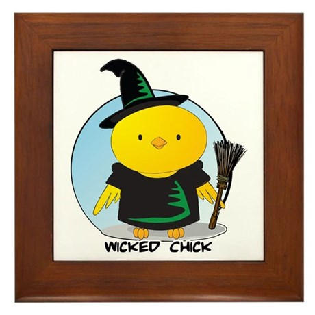 Wicked Chick Framed Tile