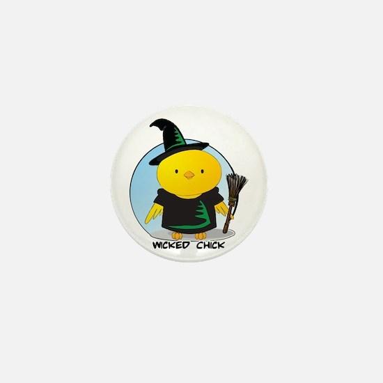 Wicked Chick Mini Button