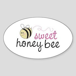 Sweet Honey Bee Oval Sticker