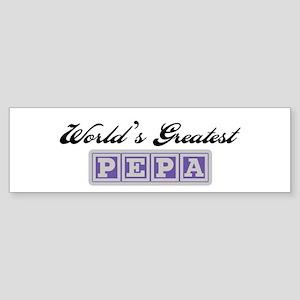 World's Greatest Pepa Bumper Sticker