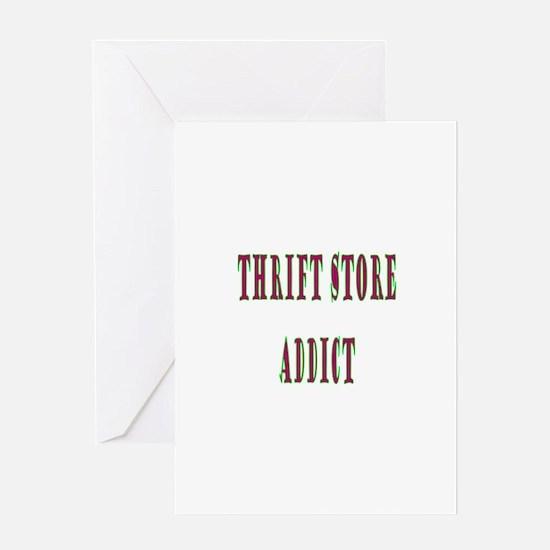 Thrift Store Addict Greeting Card