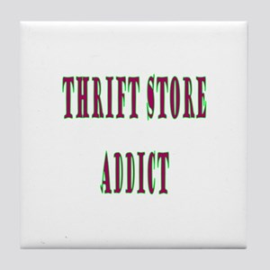 Thrift Store Addict Tile Coaster