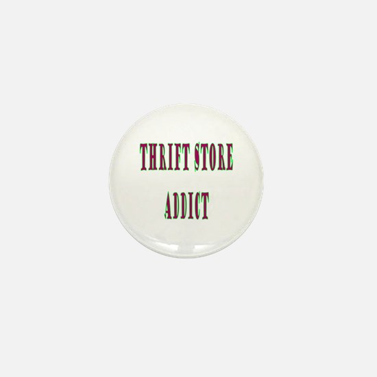 Thrift Store Addict Mini Button