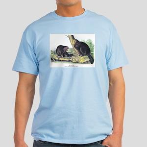 Audubon Beaver Animal Light T-Shirt
