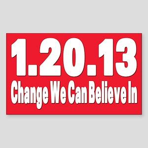 Obama's last day 01.20.13 Rectangle Sticker