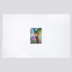 Blue/gold Macaw, parrot art! 4' x 6' Rug