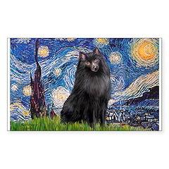 Starry / Schipperke #2 Sticker (Rectangle 10 pk)