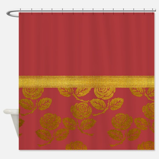 Dusty Rose Gold Shower Curtain
