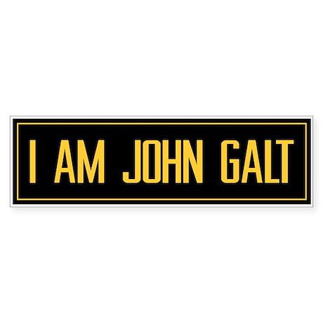 """""""I AM JOHN GALT"""" Bumper Sticker"""