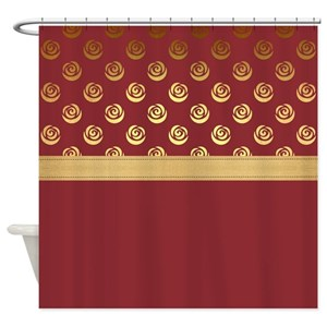 Dusty Pink Rose Shower Curtains