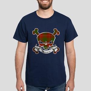 Bruce Tartan Skull Dark T-Shirt