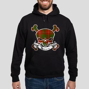 Bruce Tartan Skull Hoodie (dark)