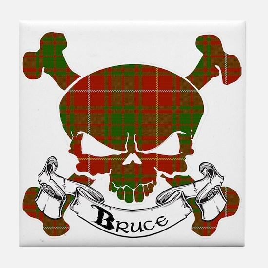 Bruce Tartan Skull Tile Coaster