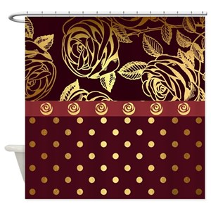 Rose Gold Shower Curtains