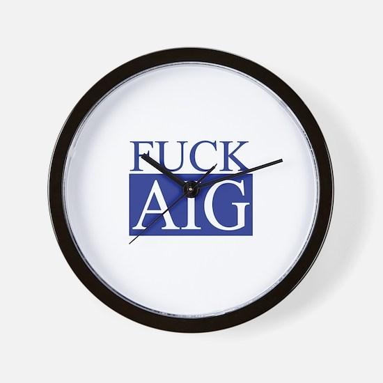 Fuck AIG Wall Clock