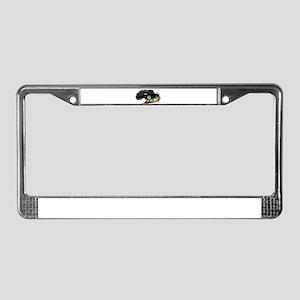 Dodge SRT-10 Black Truck License Plate Frame
