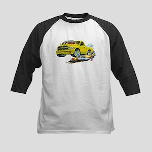 Dodge SRT-10 Yellow Truck Kids Baseball Jersey