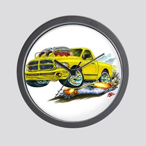 Dodge SRT-10 Yellow Truck Wall Clock