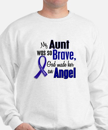 Angel 1 AUNT Colon Cancer Sweatshirt