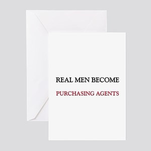 Real Men Become Purchasing Agents Greeting Cards (