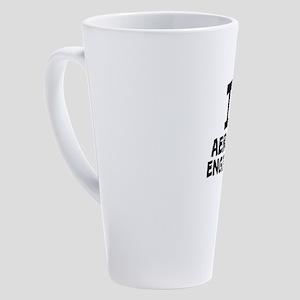 I Love Aerospace Engineering 17 oz Latte Mug