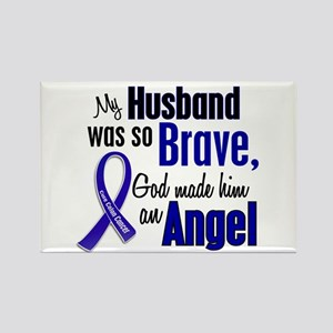 Angel 1 HUSBAND Colon Cancer Rectangle Magnet