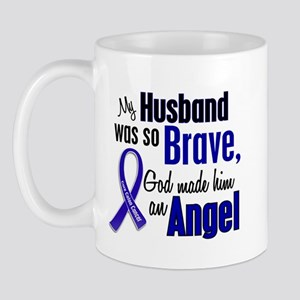 Angel 1 HUSBAND Colon Cancer Mug