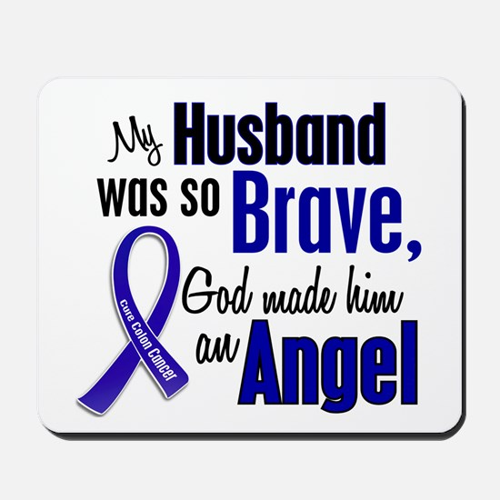 Angel 1 HUSBAND Colon Cancer Mousepad