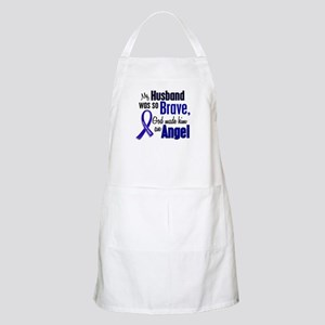 Angel 1 HUSBAND Colon Cancer BBQ Apron