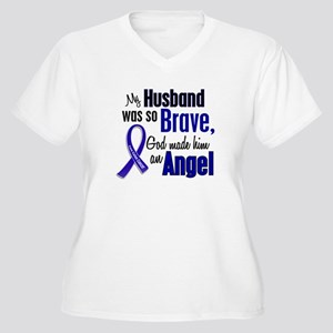 Angel 1 HUSBAND Colon Cancer Women's Plus Size V-N