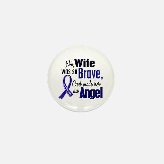 Angel 1 WIFE Colon Cancer Mini Button